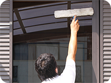 京都・大阪のガラス清掃、サッシ洗い、網戸清掃