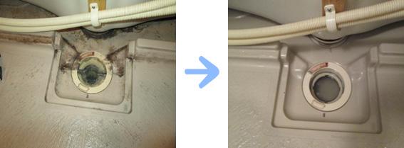 京都 水まわり清掃専門 浴室排水口清掃