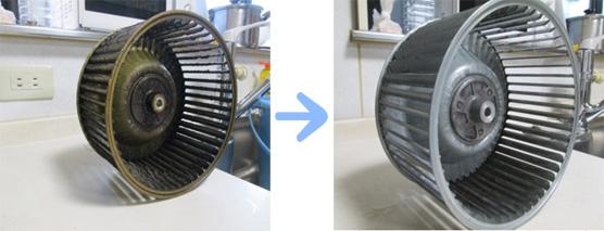 京都 水まわり清掃専門 キッチン換気扇ファン清掃